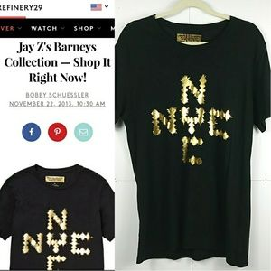 JAY Z Barney's Holiday Collection NYC Gold Shirt